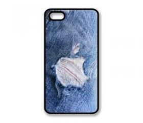 Hard Case For iPhone 4 iPhone 4S Denim Effect Design With Logo Hard Cover